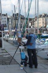 peintre sur le quai St Etienne